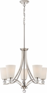 Nuvo 60-5495 Connie Polished Nickel Chandelier Lamp