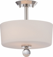 Nuvo 60-5497 Connie Polished Nickel Semi-Flush Overhead Lighting