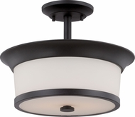 Nuvo 60-5550 Mobili Aged Bronze Semi-Flush Flush Mount Lighting Fixture