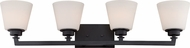 Nuvo 60-5554 Mobili Aged Bronze 4-Light Bathroom Vanity Light Fixture