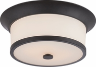 Nuvo 60-5560 Mobili Aged Bronze Flush Ceiling Light Fixture