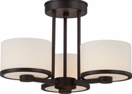 Nuvo 60-5577 Celine Venetian Bronze Halogen Semi-Flush Home Ceiling Lighting