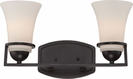 Nuvo 60-5582 Neval Sudbury Bronze 2-Light Bathroom Lighting Sconce