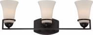 Nuvo 60-5583 Neval Sudbury Bronze 3-Light Bathroom Sconce Lighting