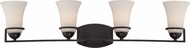 Nuvo 60-5584 Neval Sudbury Bronze 4-Light Bath Lighting Sconce