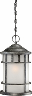 Nuvo 60-5634 Manor Aged Silver Drop Ceiling Light Fixture