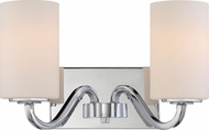Nuvo 60-5802 Willow Polished Nickel 2-Light Bathroom Wall Light Fixture