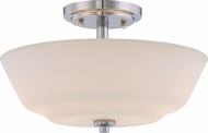 Nuvo 60-5806 Willow Polished Nickel Ceiling Light Fixture