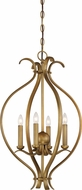 Nuvo 60-5810 Dillard Natural Brass Entryway Light Fixture