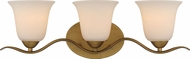 Nuvo 60-5813 Dillard Natural Brass 3-Light Bath Lighting