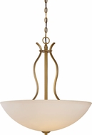 Nuvo 60-5817 Dillard Natural Brass Hanging Lamp