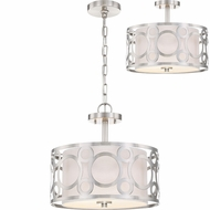 Nuvo 60-5948 Filigree Brushed Nickel Ceiling Light Fixture / Pendant Light