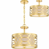 Nuvo 60-5967 Filigree Natural Brass Flush Mount Lighting / Lighting Pendant