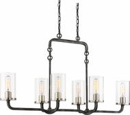 Nuvo 60-6124 Sherwood Modern Iron Black with Brushed Nickel Accents Island Lighting