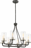 Nuvo 60-6128 Sherwood Modern Iron Black with Brushed Nickel Accents Chandelier Light