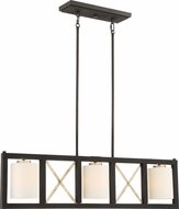 Nuvo 60-6133 Boxer Matte Black / Antique Silver Accents Kitchen Island Lighting