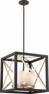 Nuvo 60-6134 Boxer Matte Black / Antique Silver Accents Entryway Light Fixture