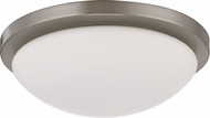 Nuvo 62-1042 Button Brushed Nickel LED 11 Ceiling Light