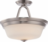 Nuvo 62-364 Calvin Brushed Nickel LED Semi-Flush Flush Mount Light Fixture