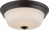 Nuvo 62-373 Calvin Mahogany Bronze LED Flush Mount Lighting Fixture