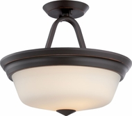 Nuvo 62-374 Calvin Mahogany Bronze LED Semi-Flush Flush Ceiling Light Fixture