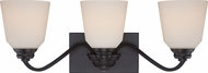 Nuvo 62-378 Calvin Mahogany Bronze LED 3-Light Bath Light Fixture
