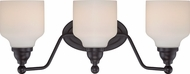 Nuvo 62-398 Kirk Mahogany Bronze LED 3-Light Bathroom Vanity Light