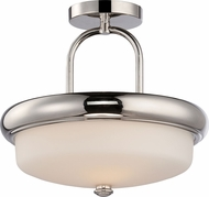 Nuvo 62-404 Dylan Polished Nickel LED Semi-Flush Ceiling Light
