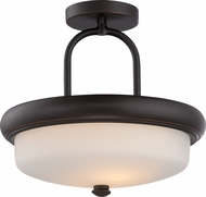 Nuvo 62-414 Dylan Mahogany Bronze LED Semi-Flush Ceiling Lighting Fixture