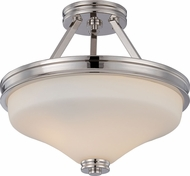 Nuvo 62-424 Cody Polished Nickel LED Semi-Flush Flush Lighting