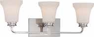 Nuvo 62-428 Cody Polished Nickel LED 3-Light Bathroom Wall Sconce