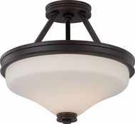 Nuvo 62-434 Cody Mahogany Bronze LED Semi-Flush Overhead Lighting