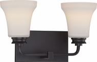 Nuvo 62-437 Cody Mahogany Bronze LED 2-Light Bath Wall Sconce