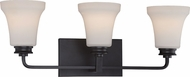 Nuvo 62-438 Cody Mahogany Bronze LED 3-Light Bathroom Light Sconce