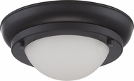 Nuvo 62-512 Poke Modern Aged Bronze LED Flush Mount Lighting Fixture