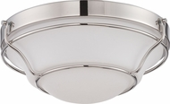 Nuvo 62-529 Baker Polished Nickel LED Flush Mount Lighting Fixture