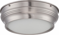 Nuvo 62-531 Lark Brushed Nickel LED Flush Ceiling Light Fixture