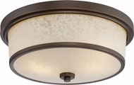 Nuvo 62-643 Diego Mahogany Bronze LED Flush Lighting