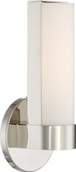 Nuvo 62-721 Bond Contemporary Polished Nickel LED 9.5  Bathroom Lighting Sconce