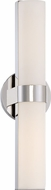 Nuvo 62-722 Bond Modern Polished Nickel LED 17.5  Bathroom Sconce Lighting