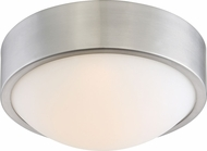 Nuvo 62-772 Perk Brushed Nickel LED 9  Flush Ceiling Light Fixture