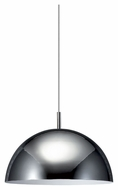 Philips 402281148 Dome Contemporary Chrome Finish 15.75  Wide Hanging Light