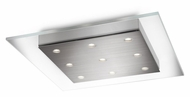 Philips 407411748 Matrix Modern Brushed Nickel Finish 1.5  Tall LED Ceiling Light