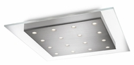 Philips 407421748 Matrix Contemporary Brushed Nickel Finish 18.1  Wide LED Ceiling Lighting