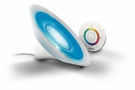 Philips 709986048 Living Colors Aura White Modern 6 Inch Tall Color Changing LED Accent Lap