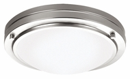 Philips F245036 West End Contemporary Satin Nickel Finish 4 Tall Flush Lighting