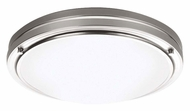 Philips F245136N1 West End Modern Satin Nickel Finish 13.5 Wide Ceiling Light Fixture