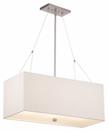 Philips F44336 Alexis Modern Satin Nickel Finish 30  Wide Island Light Fixture