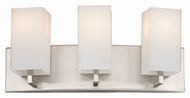 Philips F451636 Avenue Contemporary Satin Nickel Finish 7.75  Tall 3 Light Vanity Light Fixture