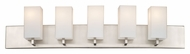 Philips F451836 Avenue Contemporary Satin Nickel Finish 7.75  Tall 5 Light Bathroom Vanity Light Fixture